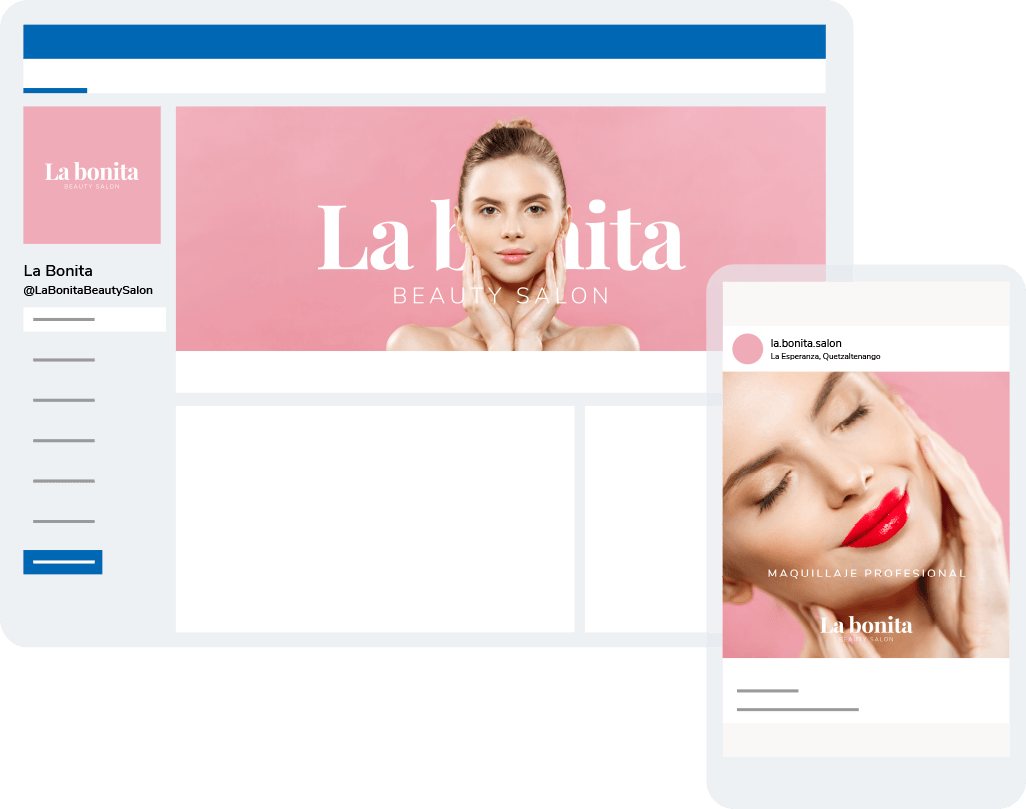 Social media de La Bonita