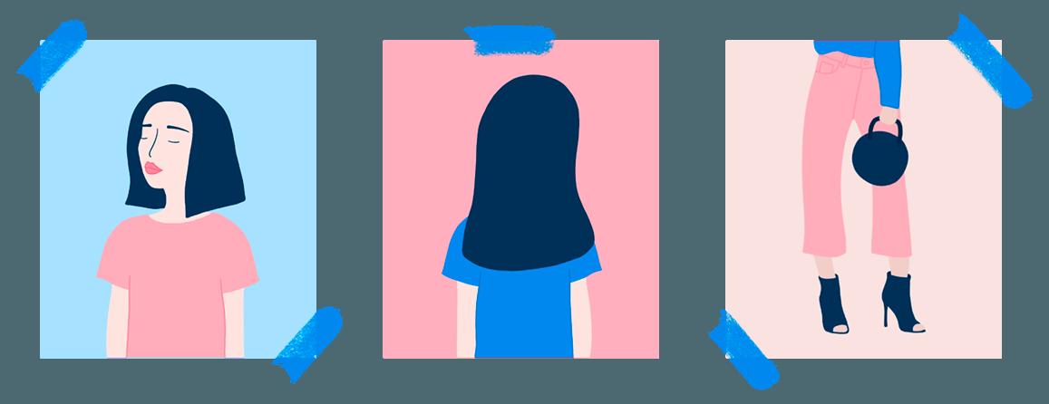 Diseño de ilustraciones de mujeres La Bonita