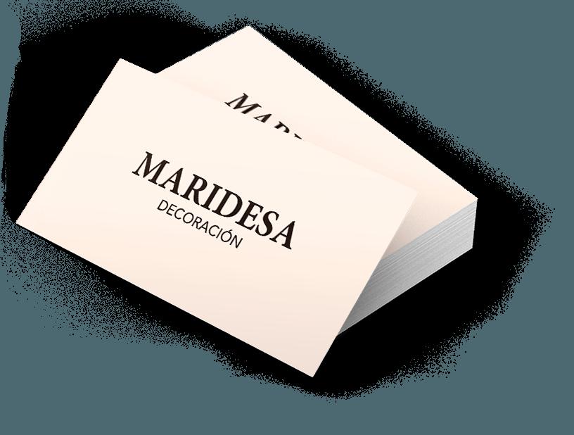 Diseño gráfico de business card de Maridesa