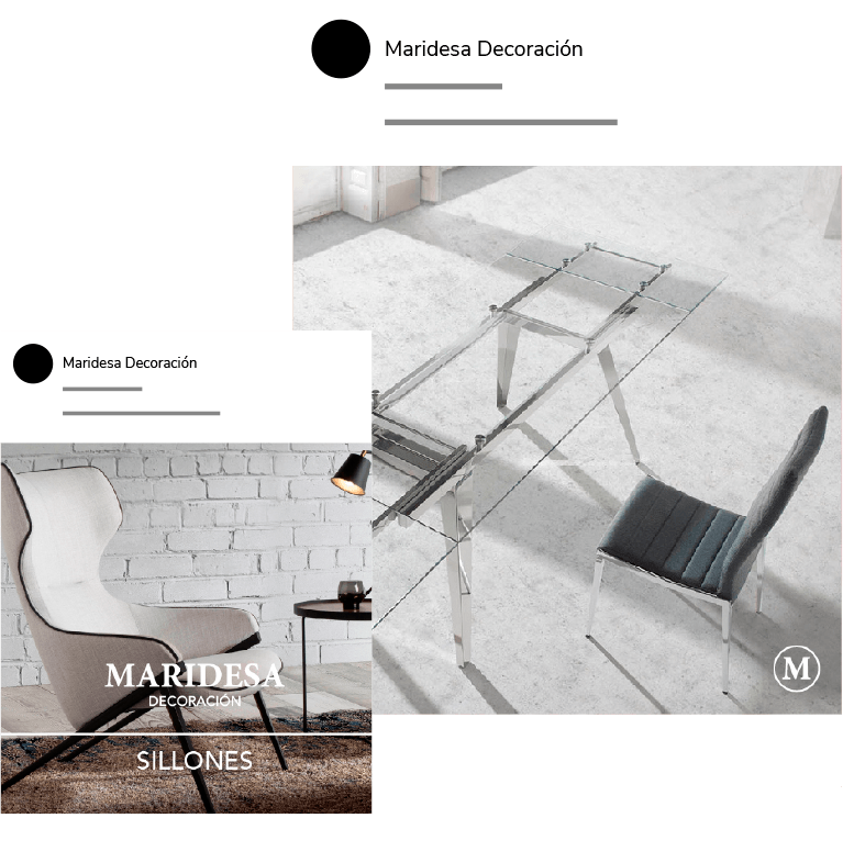 Diseño gráfico de social media de Maridesa