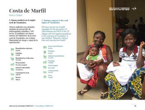 Diseño de la sección Navarra de la Memoria de Actividades FABRE
