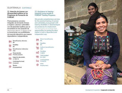 Diseño de la sección Guatemala de la Memoria de Actividades FABRE