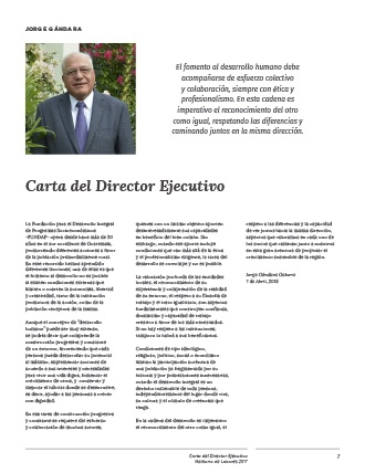 Diseño de la Carta del Director Ejecutivo de FUNDAP