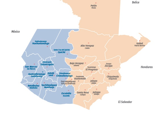 Mapa de Guatemala