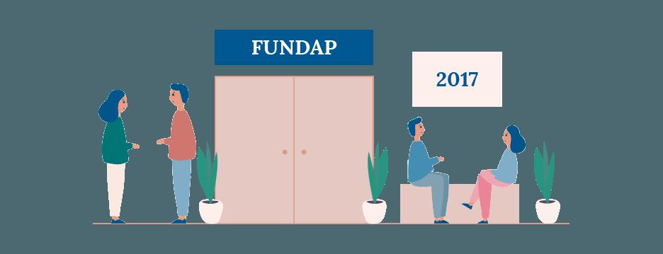 Diseño de ilustraciones para introducir datos de la Memoria de Actividades de FUNDAP