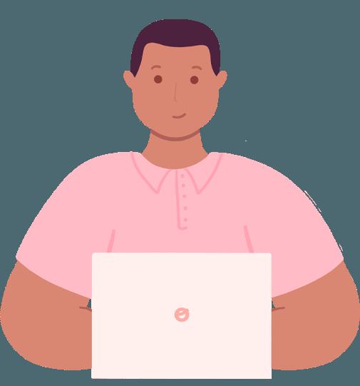 Ilustración de servicio de proyecto empresarial ofrecido por Calmo sin fondo