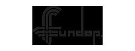 Logo de FUNDAP en negro