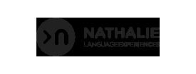 Logo de Nathalie Language Experiences en negro