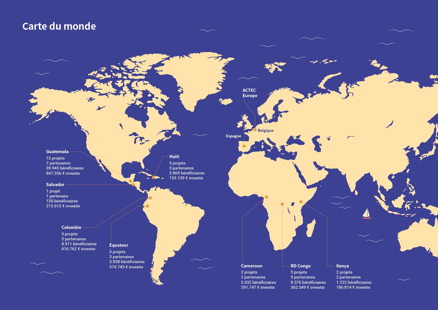 Infografía con un mapa de una Memoria Anual para una ONG