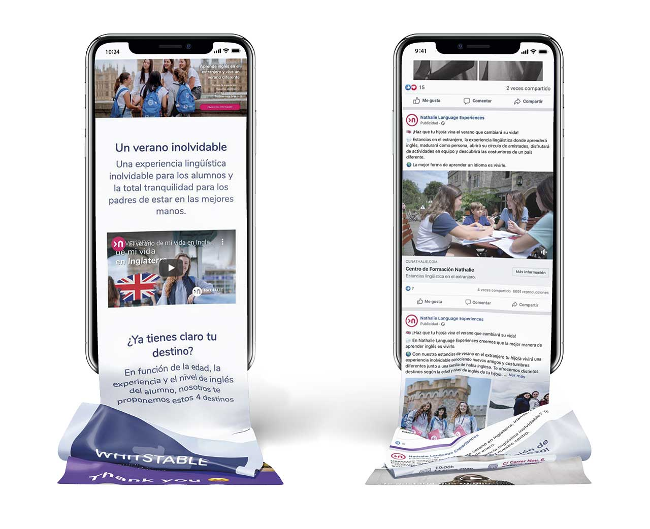 Case study videomarketing mock up dos teléfonos móviles