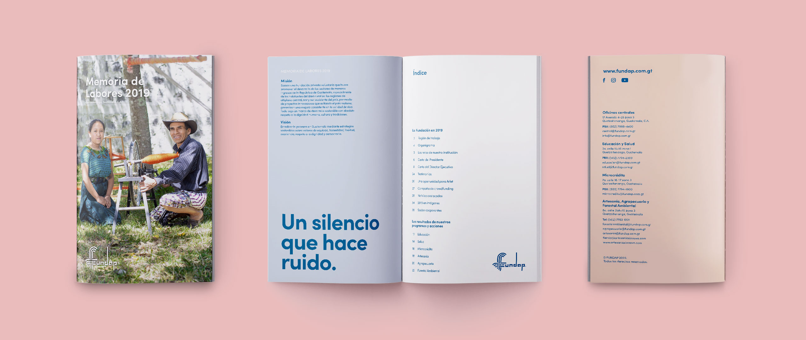Annual report design by Calmo Agency