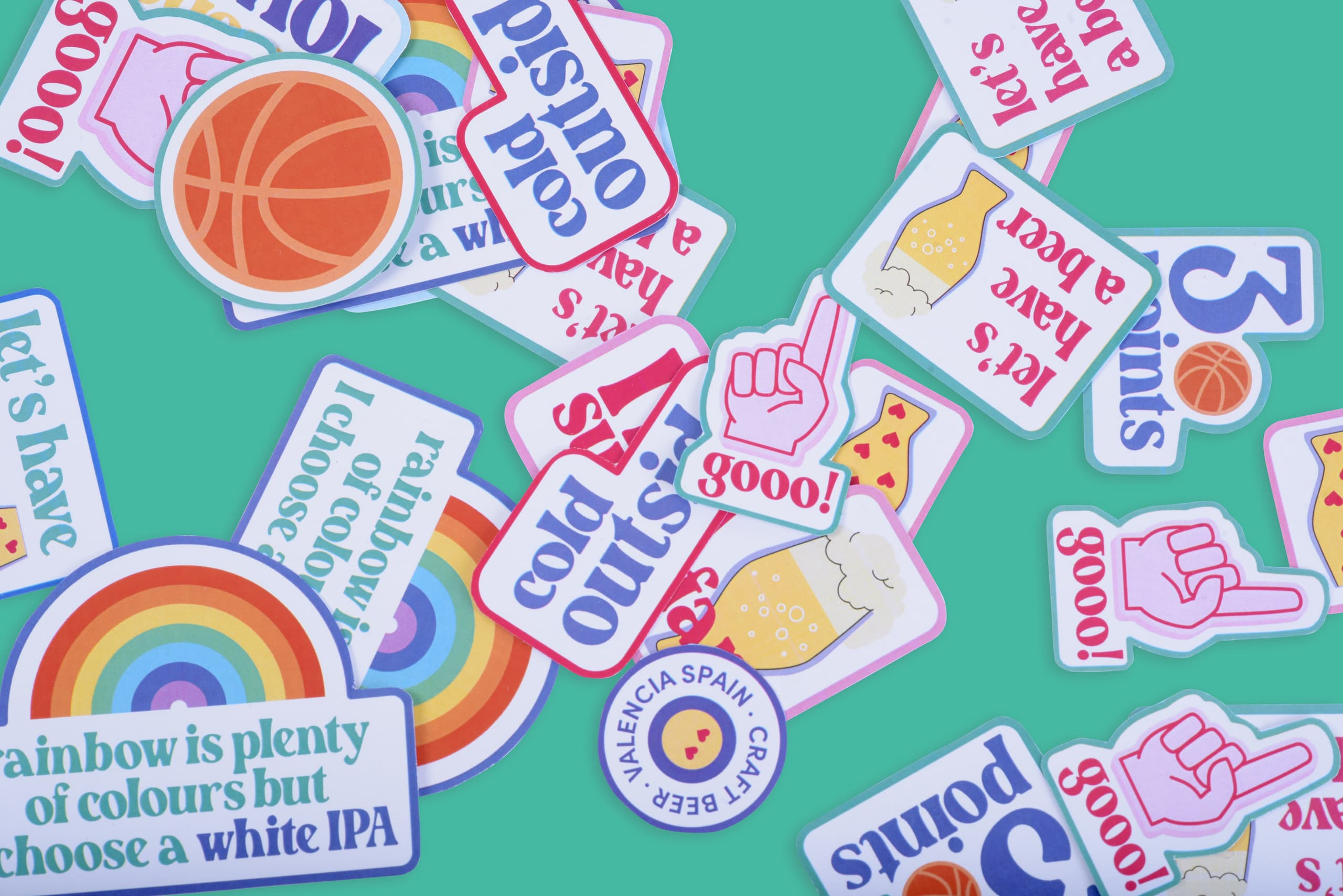 Stickers One Beer One Year