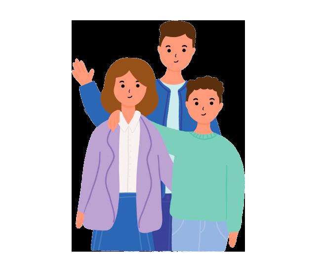 Ilustración Atención a familias