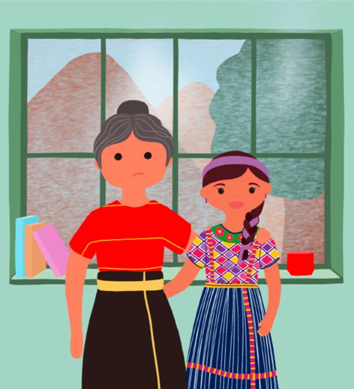 Ilustración Izamal y su abuela