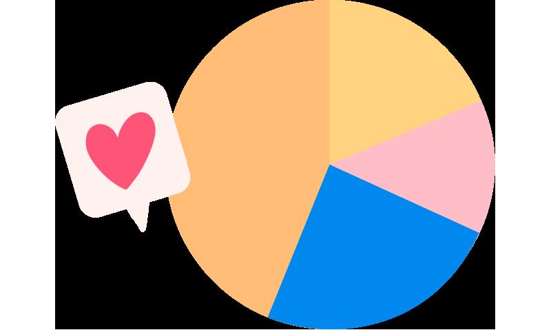 Ilustración gráfico circular