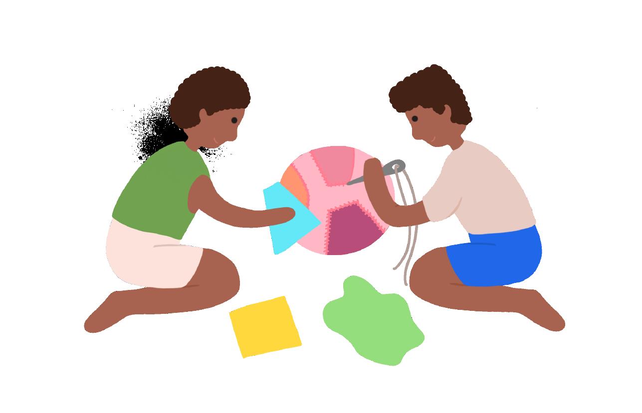Ilustración niños jugando