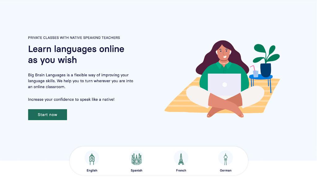 Banner Home Big Brain Languages