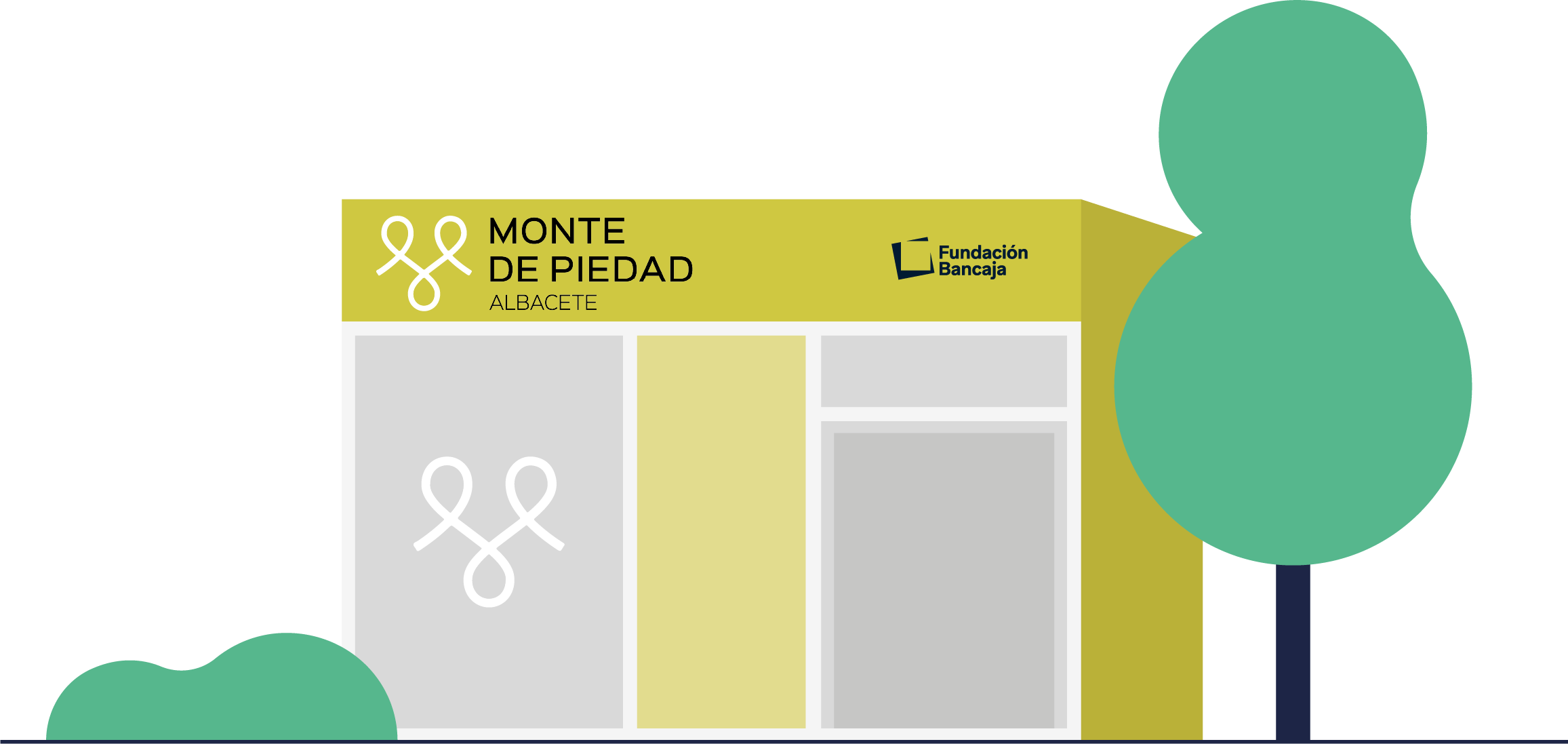 Ilustración oficina El Monte