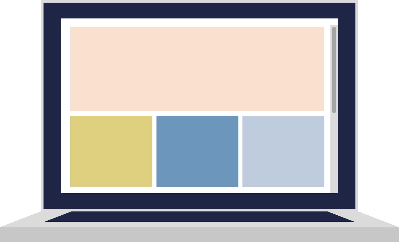 Ilustración ordenador portátil con colores corporativos